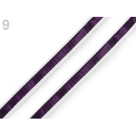 Odevná šnúra s luminous efektom šírka 8 mm fialová temná 20m Stoklasa