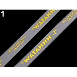 Silikónová šnúrka do kapucní šírka 15 mm žltá   18m Stoklasa