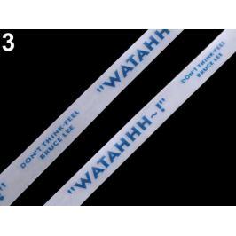 Silikónová šnúrka do kapucní šírka 15 mm modrá tm. 18m Stoklasa