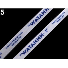 Silikónová šnúrka do kapucní šírka 15 mm modrá tmavá 18m Stoklasa