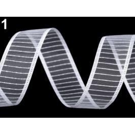 Monofilová stuha šírka 24 mm biela 13.5m Stoklasa