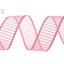 Monofilová stuha šírka 24 mm ružová sv. 13.5m Stoklasa
