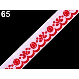 Vzorovka šírka 20 mm červená 25m