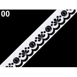 Vzorovka šírka 20 mm čierna 25m
