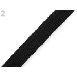 Volánik skladaný šírka 40 mm čierna 1m Stoklasa