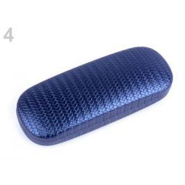 Puzdro na okuliare perleťové 6x16 cm modrá tm. 1ks Stoklasa