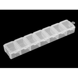 Plastový box / zásobník 1,8x3,4x15 cm Transparent 1ks Stoklasa