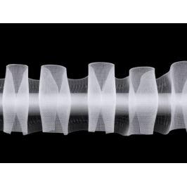 Záclonovka šírka 50 mm s pútkami na navlečenie na tyč, ceruzkové riasenie Transparent 50m