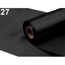 Satén jednostranný šírka 15cm čierna 90m