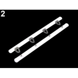 Korzetové zapínanie šírka 12 mm viac dĺžok biela 5pár Stoklasa