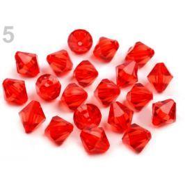 Plastové koráliky brúsené slniečko 11x11 mm červená 500ks Stoklasa