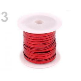 Drôt dekoračný šírka 3 mm cevka 8 m červená 1ks Stoklasa