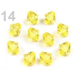 Plastové koráliky brúsené slniečko 8x8 mm žltá   500g Stoklasa