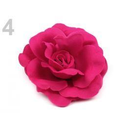 Brošňa / ozdoba ruža Ø6 cm fuchsiová tm. 12ks Stoklasa