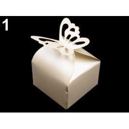 Papierová krabička s motýľom krémová najsvetl 108ks Stoklasa