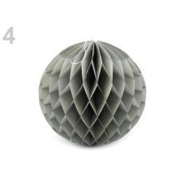 Dekoračná papierová guľa Ø25 cm šedá sv. 1ks Stoklasa