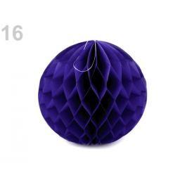 Dekoračná papierová guľa Ø25 cm modrá sýta 1ks Stoklasa
