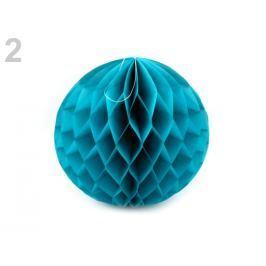 Dekoračná papierová guľa Ø25 cm modrá tyrkys. 10ks Stoklasa