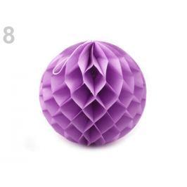 Dekoračná papierová guľa Ø25 cm fialová lila 10ks Stoklasa