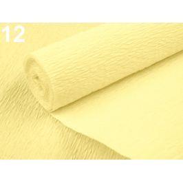 Krepový papier 0,5x2,5 m bielo žltá 4ks Stoklasa