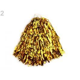Pompon pre roztlieskavačky hladký zlatá sv. 10ks Stoklasa