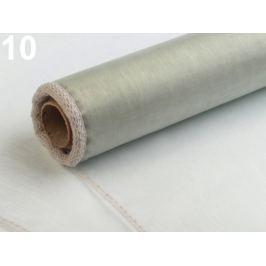 Organza šírka 21 cm šedá sv 20ks