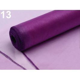Organza šírka 21 cm fialová purpura 20ks