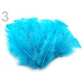 Morčacie perie dĺžka 11-17 cm modrá sýta 20sáčok Stoklasa