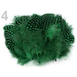 Slepačie perie dĺžka  8 -13 cm zelená smaragdová 1sáčok Stoklasa