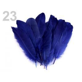 Husacie perie dĺžka 15-21 cm modrá námornícka 5ks Stoklasa