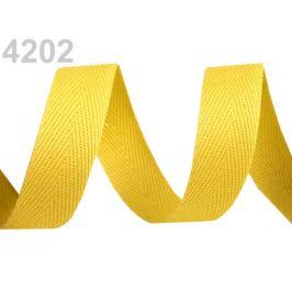 Keprovka - tkaloun šírka 16 mm žltá maslová 50m