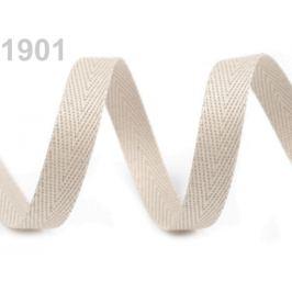 Keprovka - tkaloun  šírka 10 mm béžová sv. 50m