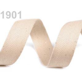 Keprovka - tkaloun šírka 25 mm béžová sv. 50m