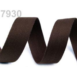 Keprovka - tkaloun šírka 25 mm hnedá tm. 50m