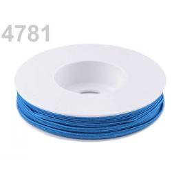 Šujtaška šírka 3 mm viskóza modrá sýta 10m