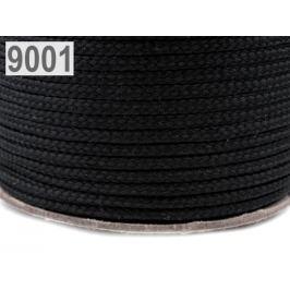 Odevná šnúra PES Ø4 mm čierna 100m