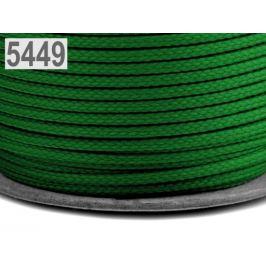 Odevná šnúra PES Ø4 mm zelená 100m