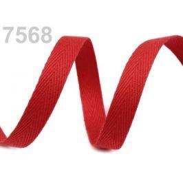 Keprovka - tkaloun šírka 8 mm červená 50m
