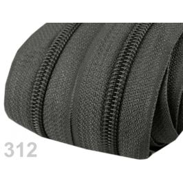 Zips špirálový 5mm metráž pre bežce typu POL Dark Shadow 5m