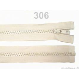 Kostený zips šírka 5 mm dĺžka 40 cm bundový Almond Oil 1ks Stoklasa