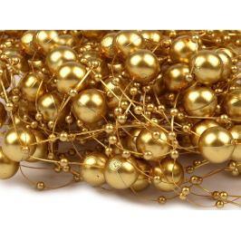 Perly na silóne Ø12 mm dĺžka 130 cm zlatá 4ks Stoklasa