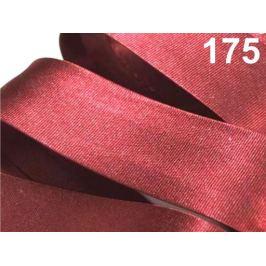 Šikmý prúžok saténový 20mm zažehlený rozmeraný Emberglow 20m