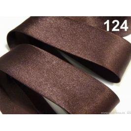 Šikmý prúžok saténový 20mm zažehlený rozmeraný Cocoa Brown 20m