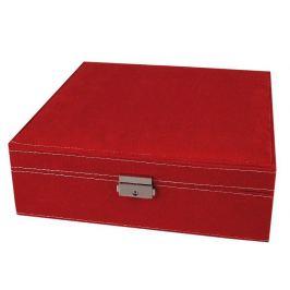 Šperkovnica 8,5x26x26cm červená  1ks Stoklasa