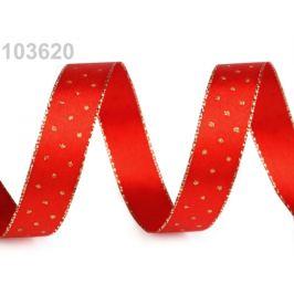 Stuha s lurexom šírka 15 mm červená  20m