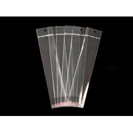 Celofánové sáčiky s lepiacou lištou a závesom 5x20 cm Transparent 100ks Stoklasa