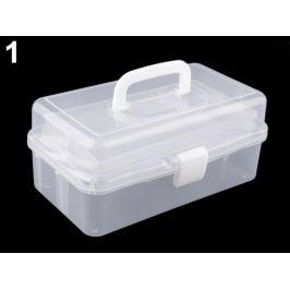 Plastový box / kufrík 20x33x15 cm rozkladací Transparent 1ks Stoklasa