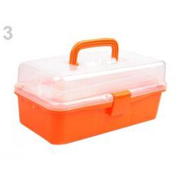Plastový box / kufrík 20x33x15 cm rozkladací oranžová   1ks Stoklasa