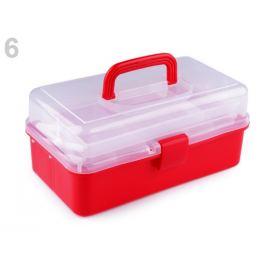 Plastový box / kufrík 20x33x15 cm rozkladací červená 1ks Stoklasa