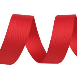 Rypsová stuha šírka 25 mm červená 15m Stoklasa